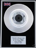 "BILLY FURY - 7"" Platinum Disc - DEVIL OR ANGEL"